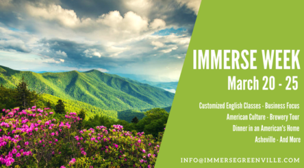 IMMERSE week in spring